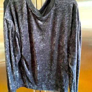 """NWT FREE PEOPLE lightweight  charcoal """"velvet""""top"""